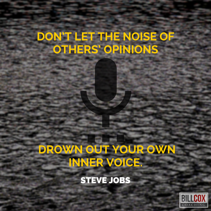 Don't let the #noise of others' #opinions... #SteveJobs