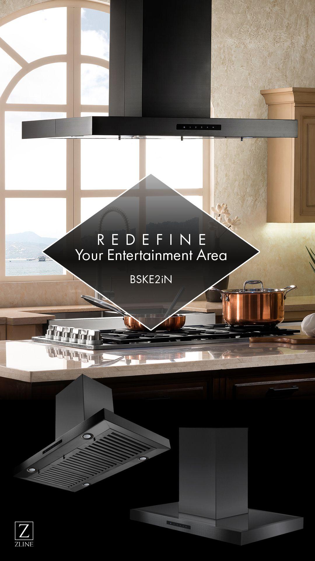 Redefine Your Entertainment Area Zline Black Stainless Island Range Hood Stainless Steel Range Hood Kitchen Range Hood Range Hood
