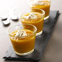 Recette Crème de potiron au zeste d'orange (facile) : Francine, recette de Crème de potiron au zeste d'orange pour 8