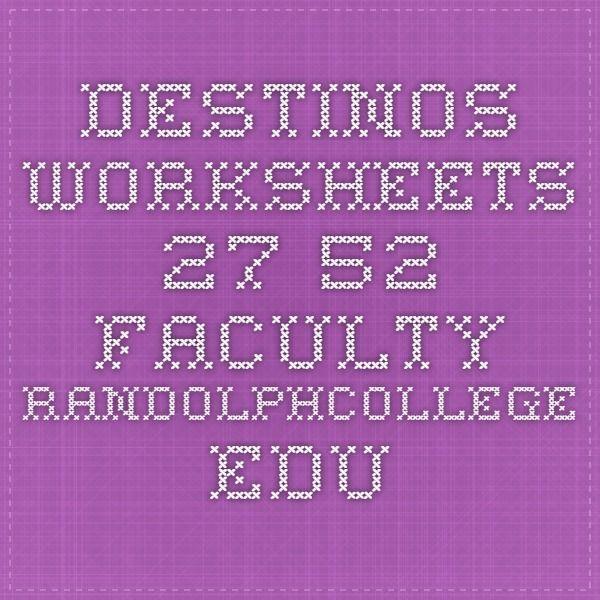 Destinos Worksheets 27 52 Facultyrandolphcollege Homeschool