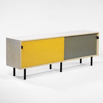 Florence Knoll Credenza White Yellow Grey Sideboard Grey Furniture Dining Room Storage