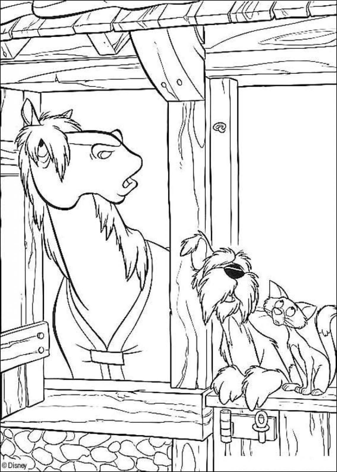 Dalmatians+Horse+Dog+And+Cat+Printable+Coloring+Pages | Free ...