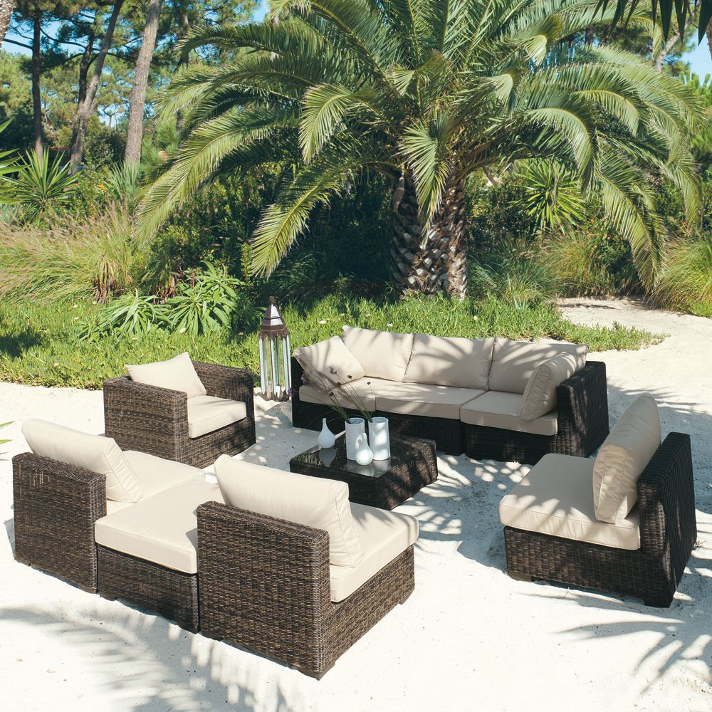 chauffeuse de jardin en r sine tress e marron chauffeuse bali et marrons. Black Bedroom Furniture Sets. Home Design Ideas