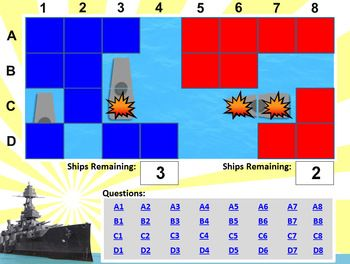 Battleship Powerpoint Template  Create Your Own Review Game