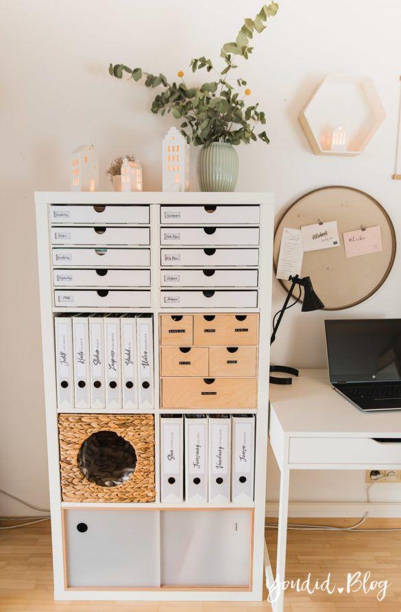 Photo of IKEA Hack – Pimp my Kallax mit New Swedish Design + kostenlose Ordnerrücken Vorlage zum Ausdrucken und Ordner beschriften – Youdid