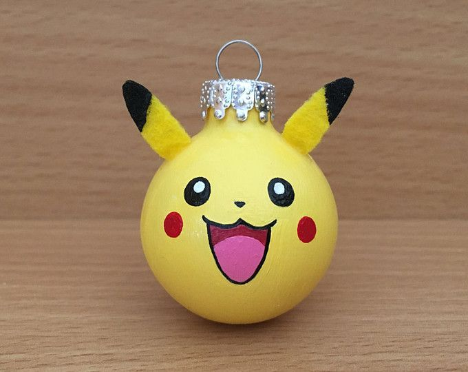 Pikachu Christmas Ornament.Pikachu Ornament Pokemon Diy Christmas Pokemon