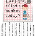 Printable Bucket Filling Tear Off Poster 2 Bucket Filling Bucket Filler Bucket Filling Activities