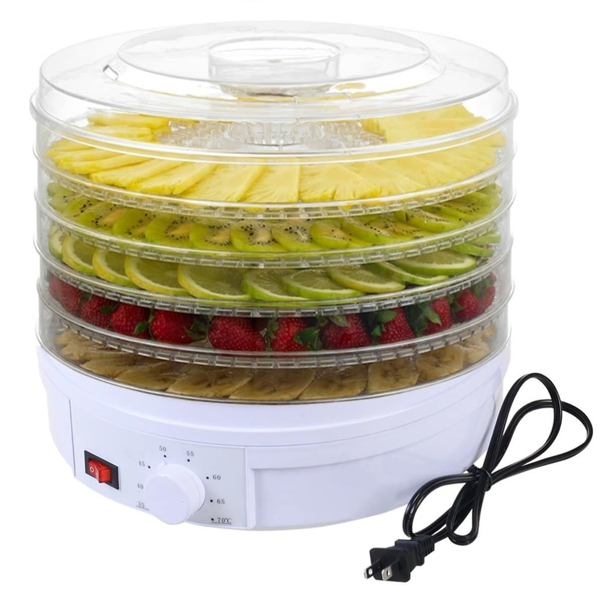 J Jati 5 Tray Electric Food Dehydrator White Products In