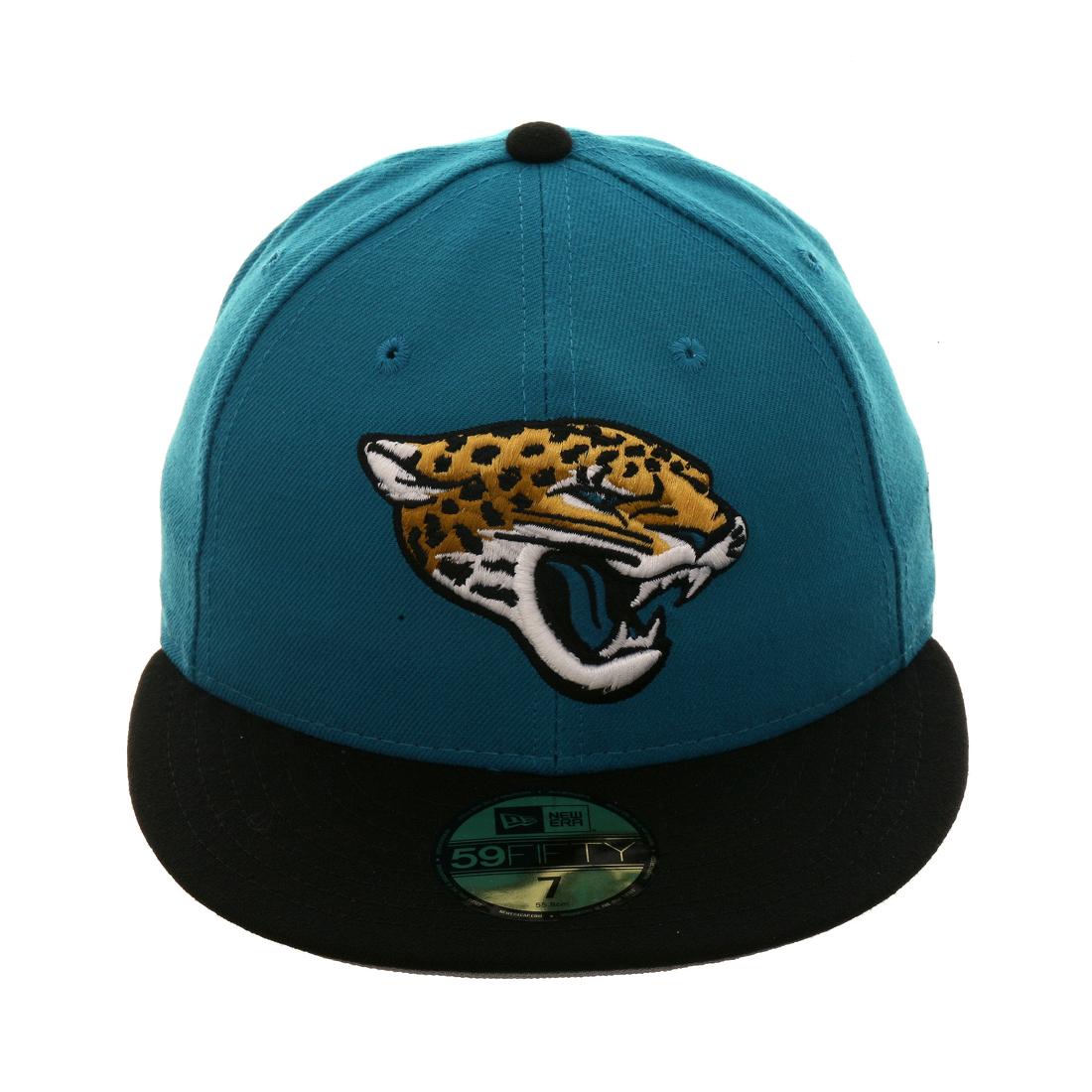 7ea630748a1 Exclusive New Era 59Fifty Jacksonville Jaguars Hat - 2T Teal