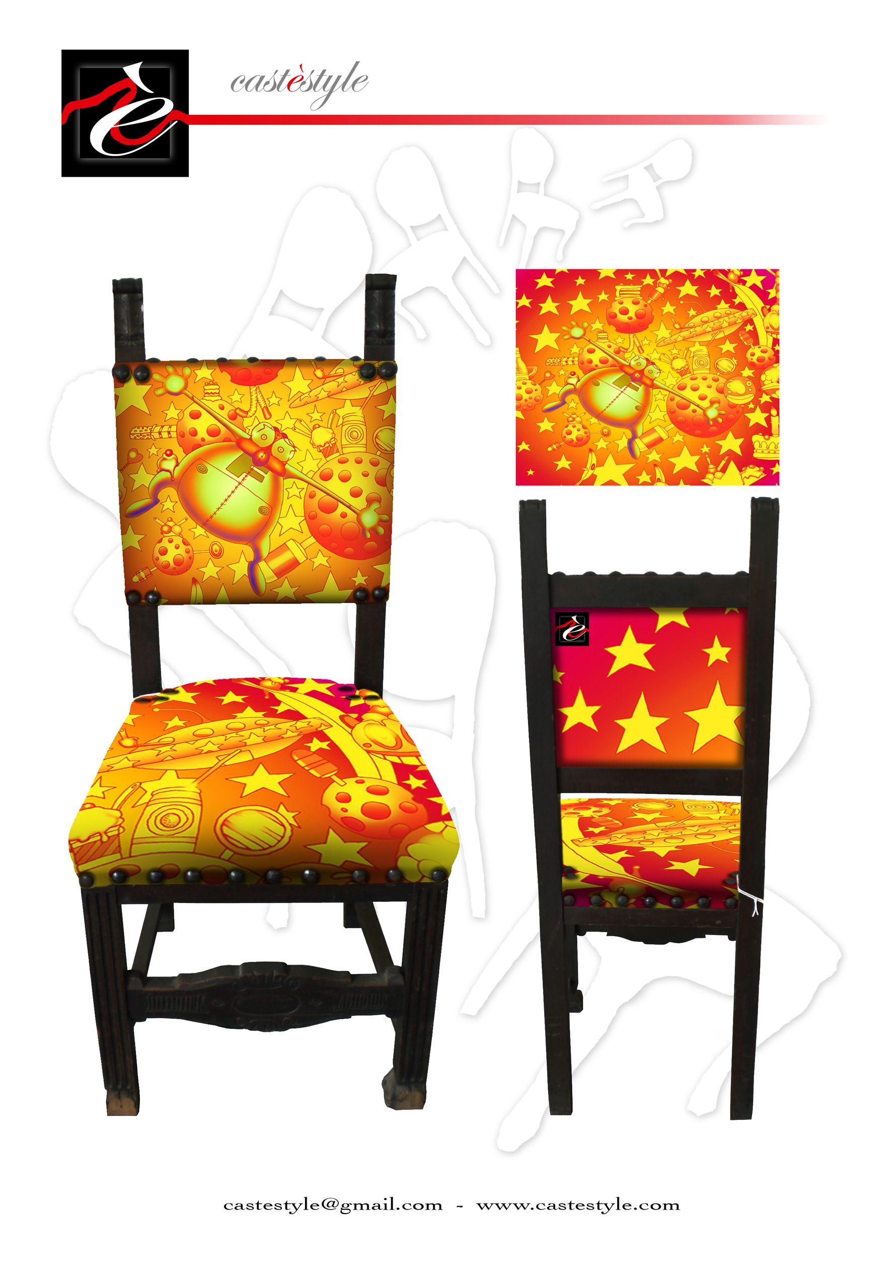 Sedia foffo arancio disegnata da simone lucchesi per for Arredamento artistico