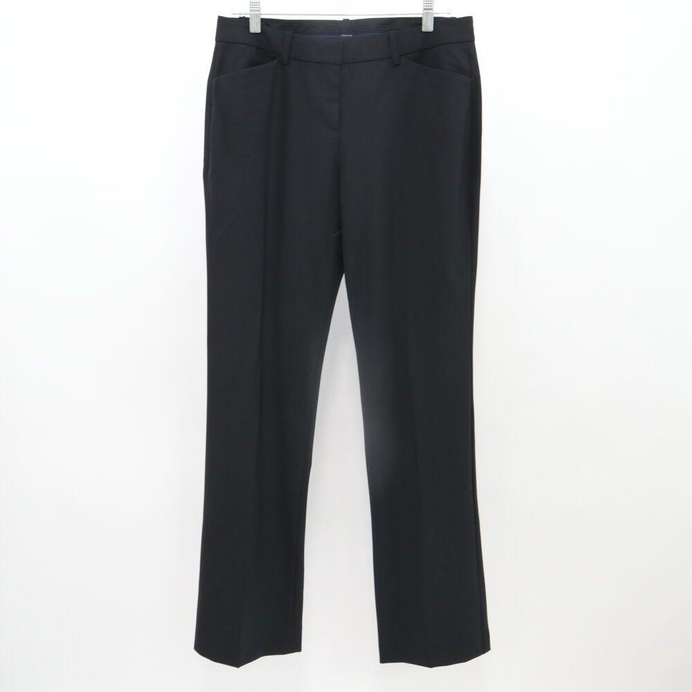 Theory Dress Pants Wool Womens 8 New Custom Max 2 Edition Black Stretch Career Theory Straight Work Pants For Women Black Stretch Theory Dress [ 1000 x 1000 Pixel ]