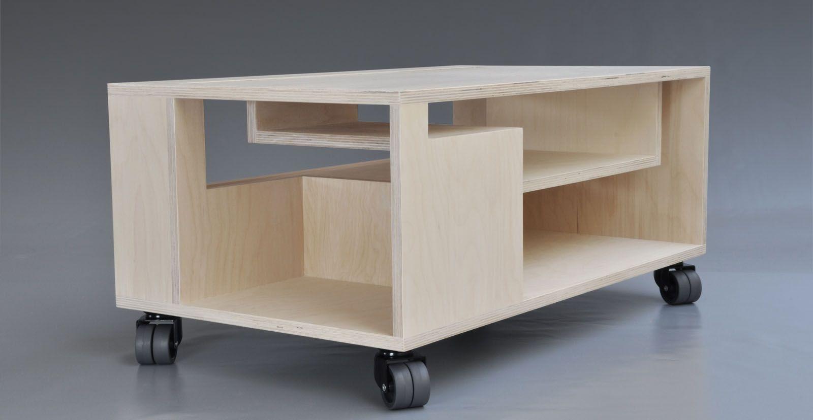 Tv Meubel Wieltjes : Tv meubel klein op wielen multiplex design origineel te