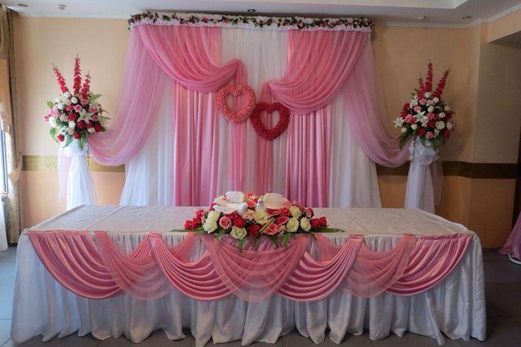 Pin de gloria beatriz en decoracion con telas wedding for Decoracion en telas y globos para 15 anos