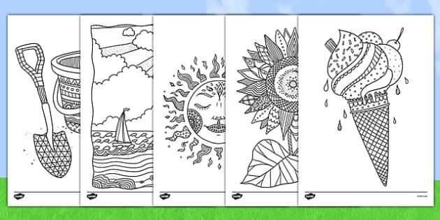 Space Themed Mindfulness Colouring Pages Summer Coloring Pages Mindfulness Colouring Sheets Mindfulness Colouring