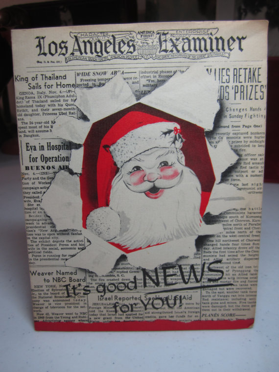Pin On Santas 30 S Today Paper Cards Etc