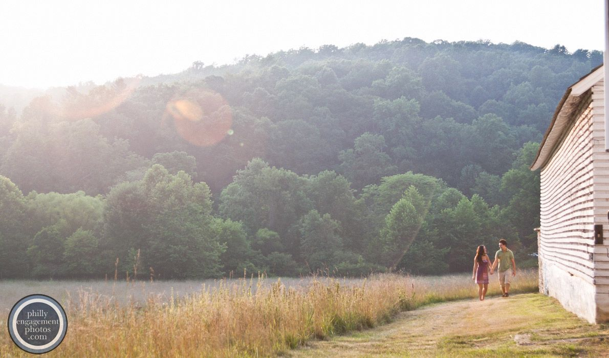 Scenic Engagement Photos taken in Valley Forge Park.