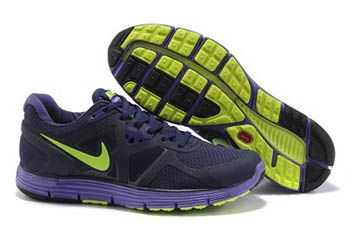 sports shoes cbb18 9d9bb Cheap site for workout shoes Half off. Nike LunarGlide+ 3 Running Shoe Navy  Purple Neon Mens