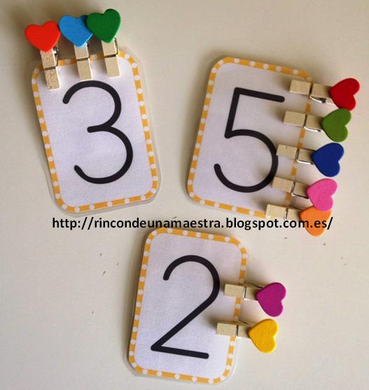 Rincón de una maestra: Tarjetas numéricas