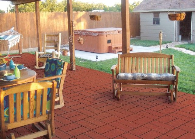 Patio With Interlocking Deck Tiles Gray On Gr Google Search