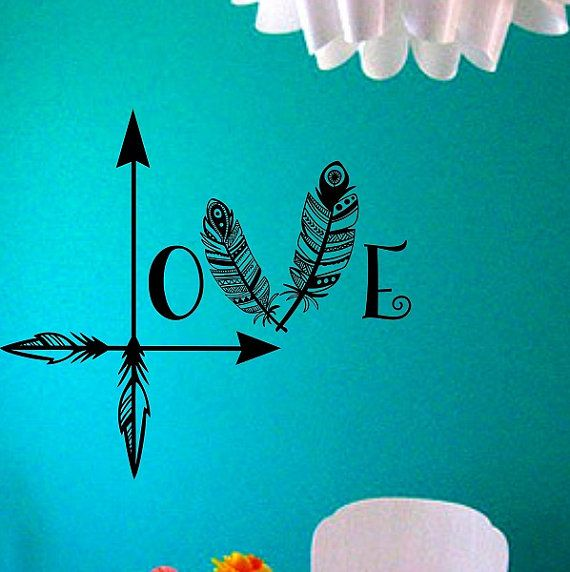 Arrow Feather Love Wall Decal Namaste Vinyl Sticker Art Decor Bedroom  Design Mural Home Decor Room