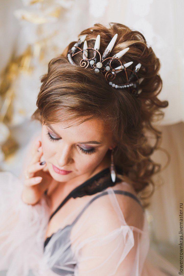 Свадебные прически на длинные волосы мастера