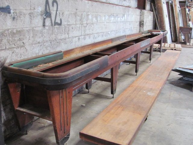22 Foot Long Vintage Rock Ola Shuffleboard Table