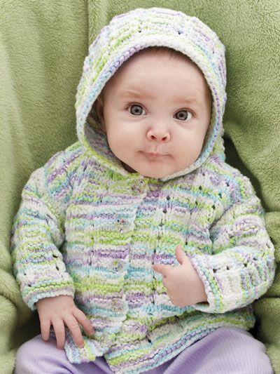 Adorable Baby Hoodie Knitting Pattern Download From E