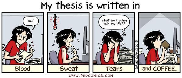 Difficulties in writing a dissertation