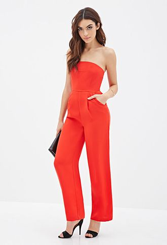 f23e350abe1 Strapless Wide-Leg Jumpsuit
