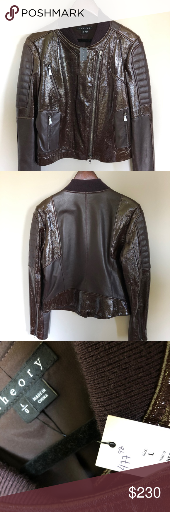 Brand New Leather Theory Jacket Jackets Leather Jacket Brands [ 1740 x 580 Pixel ]