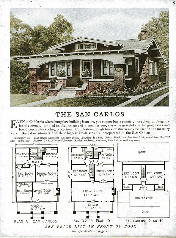 Sterling Kit House The San Carlos In 2020 Craftsman Bungalows Craftsman House Plans Craftsman Bungalow House Plans