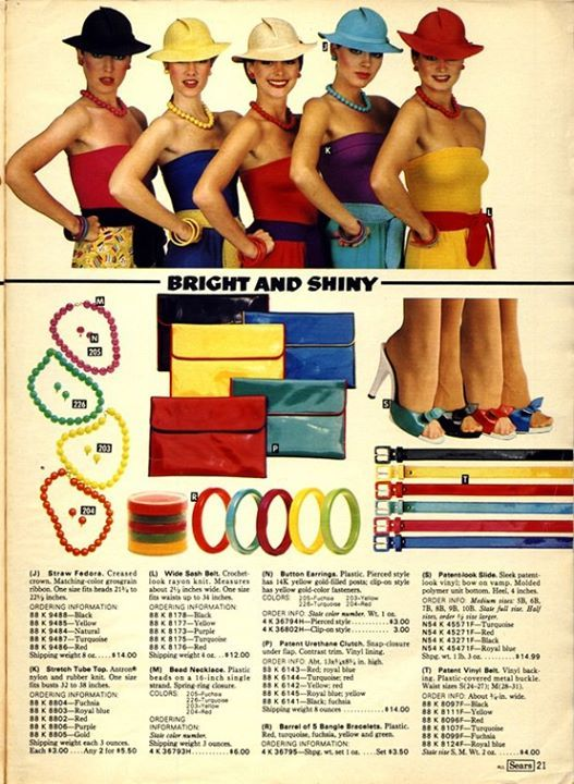 Catalogo Sears verano de 1980. Muchos colores..
