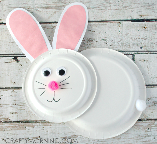 Make a paper plate bunny rabbit for an Easter craft! This ...