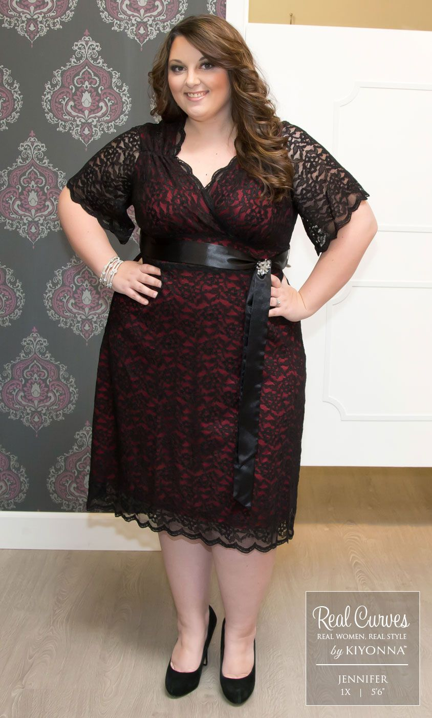 Real Curves For Retro Glam Lace Dress