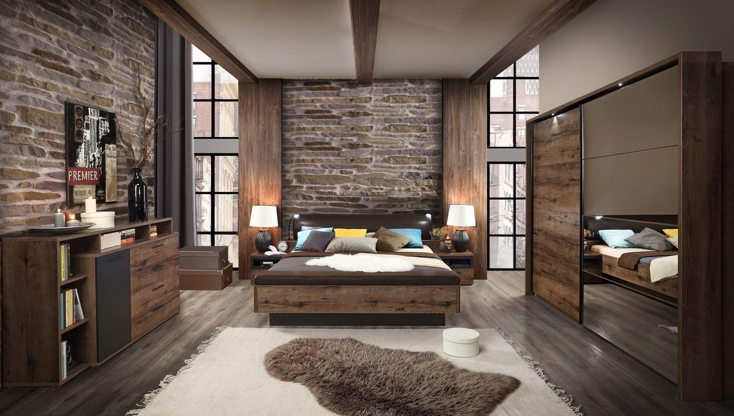 Schlafzimmer Mit Bett 180 X 200 Cm Script Schlammeiche/ Schwarzeiche Woody  77 01266 Schwarzeiche/ Schlammeiche Holz Modern Jetzt Bestellen Unter: ...