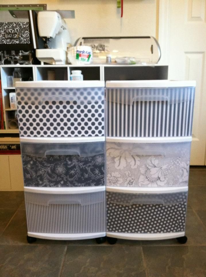 Decorative Plastic Storage Boxes With Lids How To Dress Up Plastic Drawers  Tips Tricks & Crafts