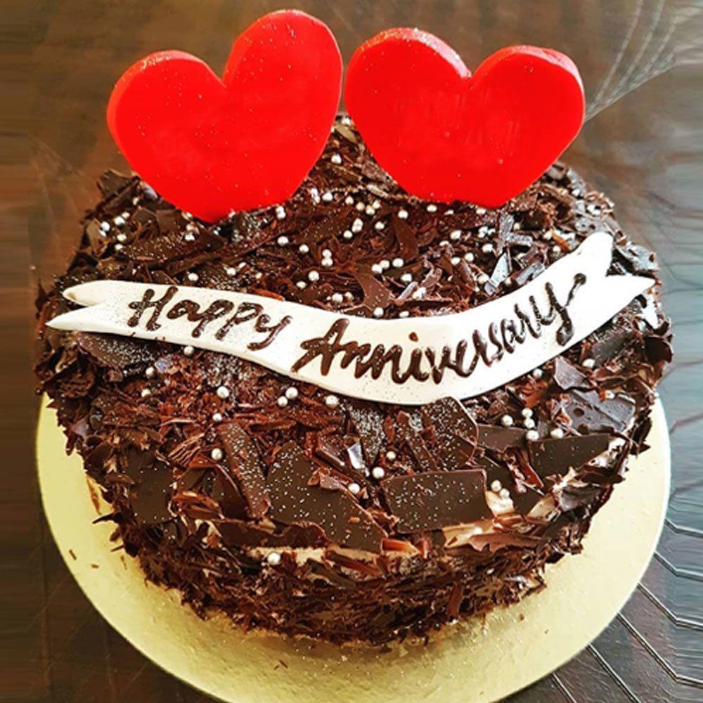 Stunning Anniversary Cream Cake Winni Happy Anniversary Cakes Beautiful Chocolate Cake Chocolate Anniversary Cake