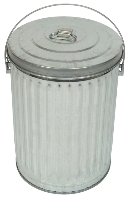10 Gallon Galvanized Garbage Pail With Optional Lid 10gpc Metal Trash Cans Trash And Recycling Bin Metal Pail Metal trash can with lid