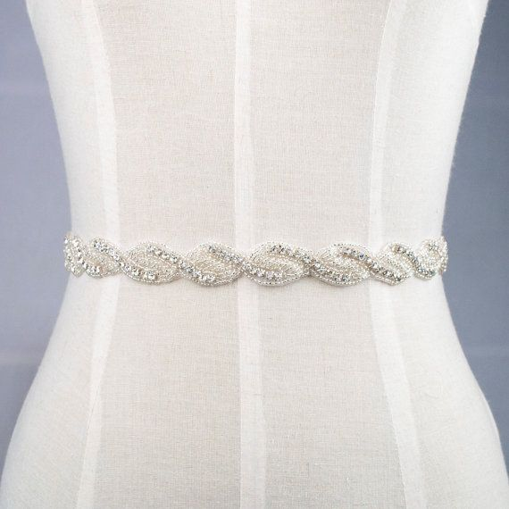 Bridal dress wedding sash belt with rhinestone and by SamiteRedowa ...