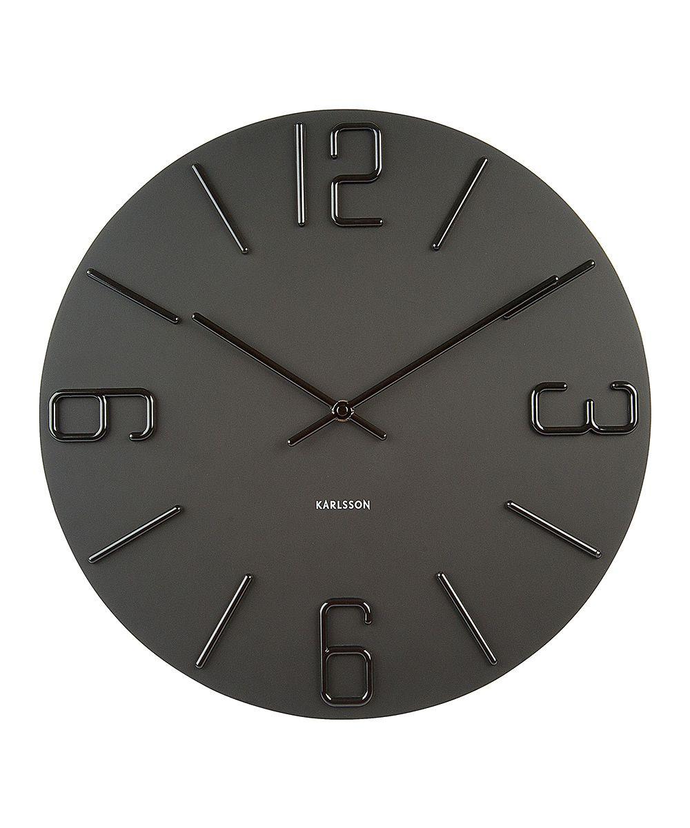 Black Relief Xi Wall Clock Wall Clock Clock Wall Clock Design