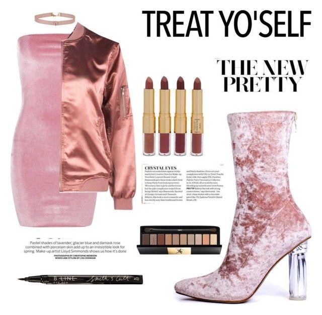 """Treat yo'self :pink me"" by josy-ankomah on Polyvore featuring moda, Boohoo, Yves Saint Laurent, Miss Selfridge, tarte e Smith & Cult"
