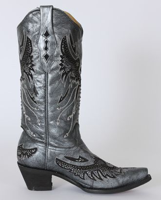 Corral Boots® Ladies' Black & Silver Eagle Boots :: Boots :: New Arrivals :: FEATURES :: Fort Western Online