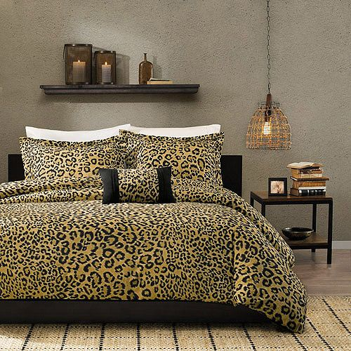 Home Essence Leopard Print 4 Piece Bedding Duvet Cover Set