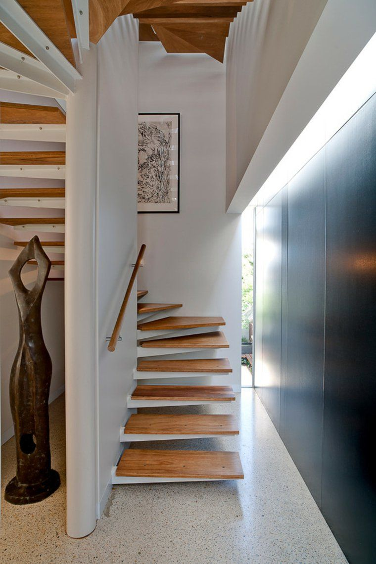 escalier moderne 34 mod les qui impressionnent chambre bebe pinterest stairs house. Black Bedroom Furniture Sets. Home Design Ideas