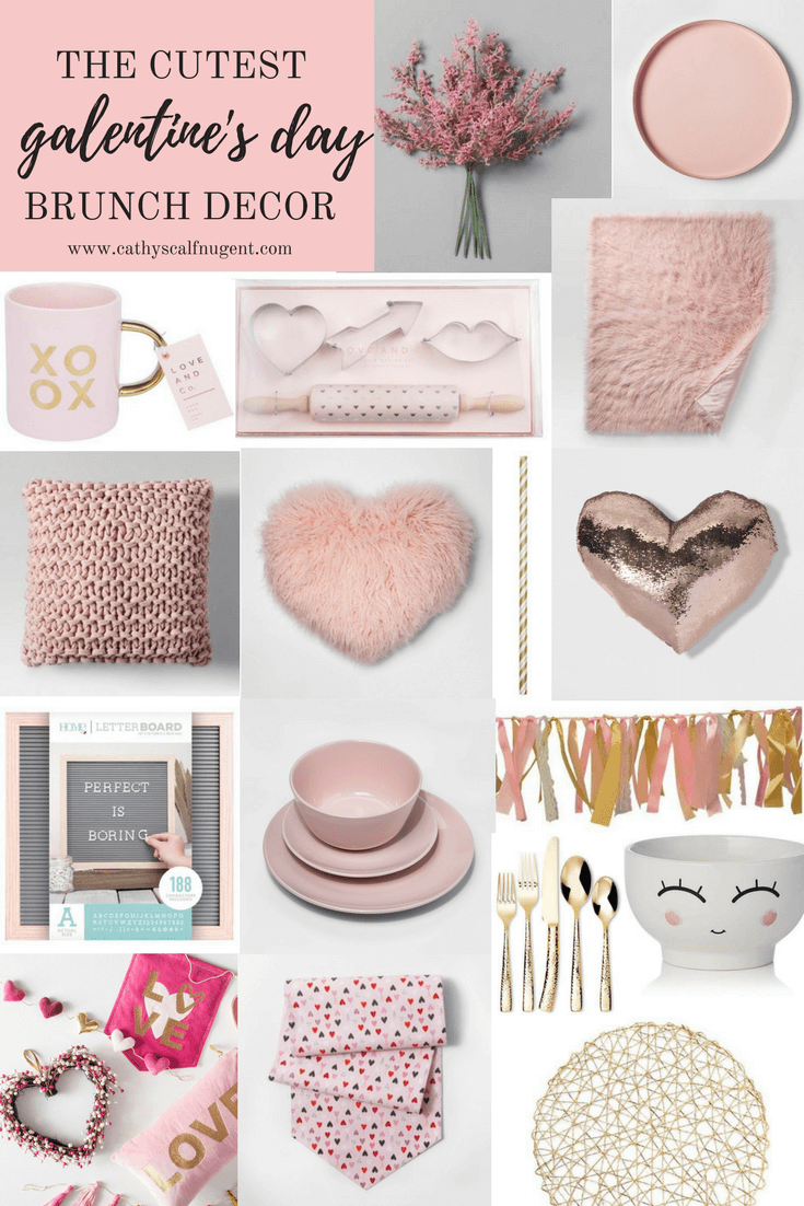 The Cutest Galentine S Day Brunch Decor A Hosting Home Target Valentines Decor Brunch Decor Valentine Decorations