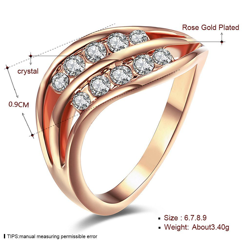 10cffca2c LuckyWeng Womens New Exquisite Fashion Jewelry Rose Gold Trend Zircon  Wedding Ring -- You can find out more details at the link of the image.