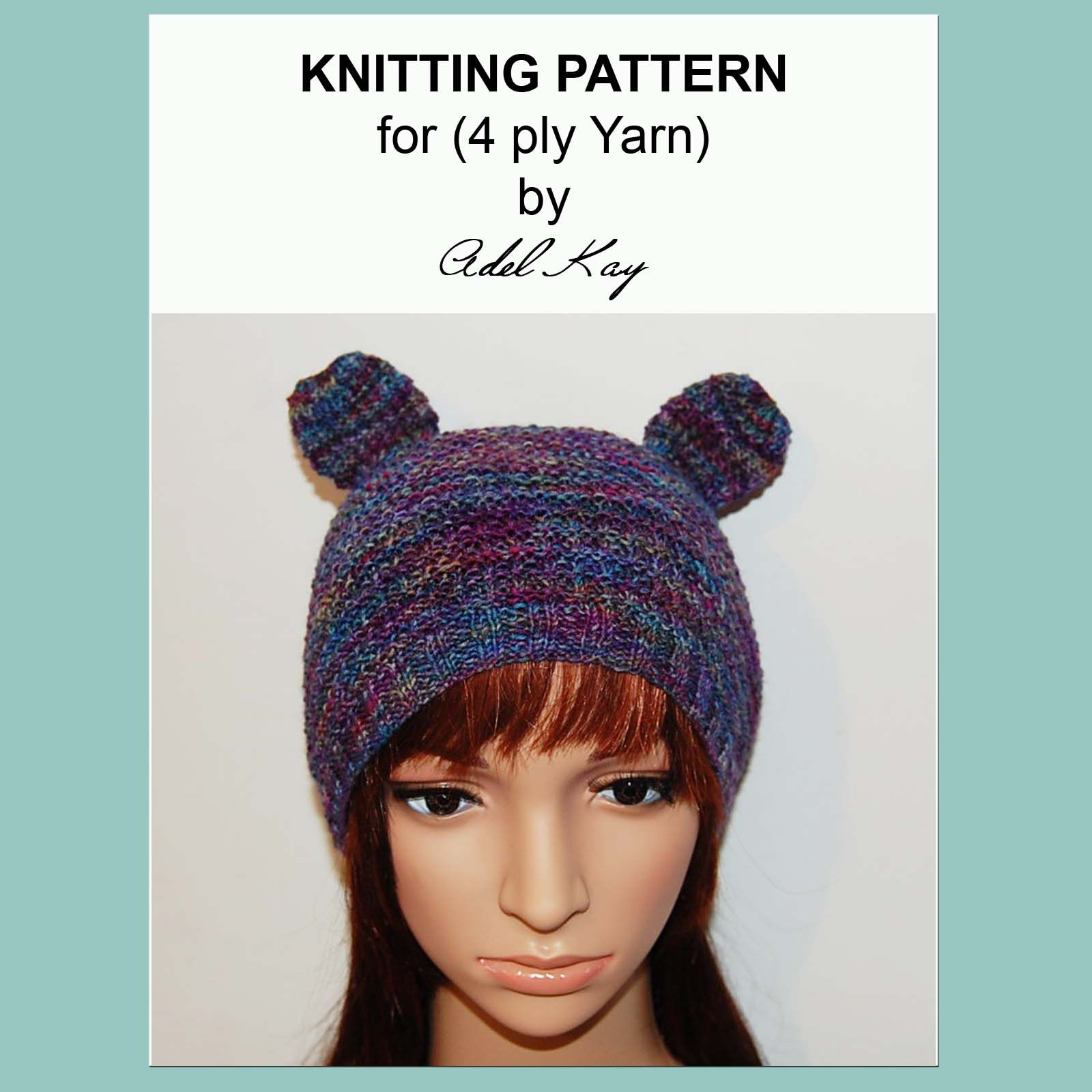 Aimee bear hat knitting pattern my knitting pattern designs aimee bear hat knitting pattern bankloansurffo Gallery