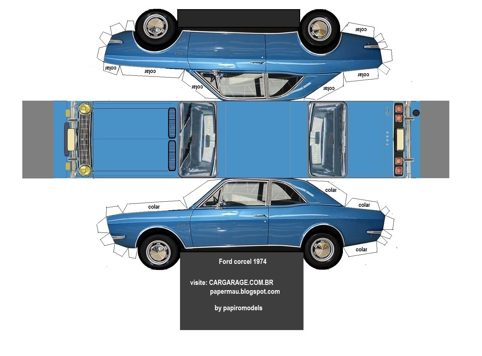 форд из бумаги картинки формы