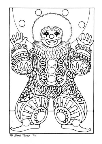 Coloring page clown my coloring pages pinterest for Clown coloring pages for adults