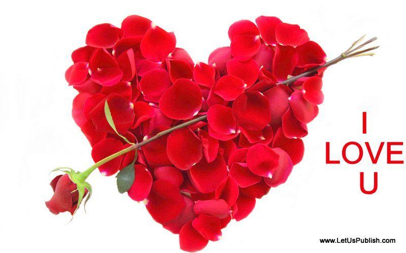 Romantic #Roses Heart HD Image With I #Love You